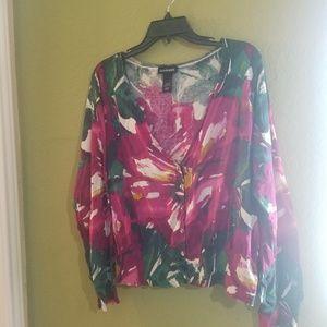 Lane Bryant floral lightweight sweater size 22/24